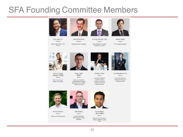 22 SFA Founding Committee Members