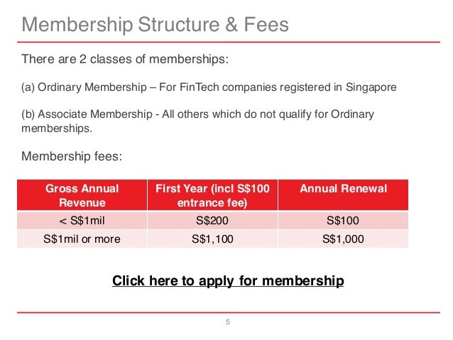 5 Membership Structure & Fees There are 2 classes of memberships: (a) Ordinary Membership – For FinTech companies register...