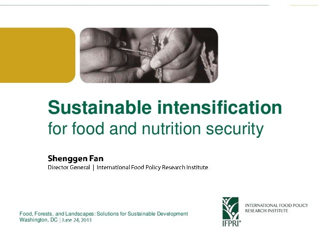 Click to edit Master title styleSustainable intensificationfor food and nutrition securityFood, Forests, and Landscapes: S...