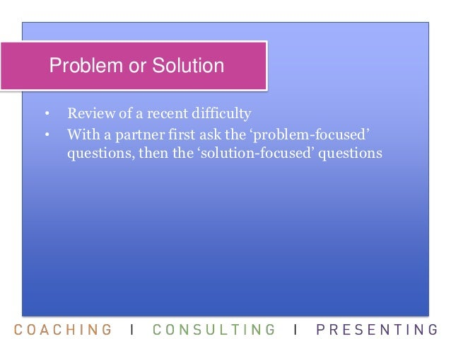 problem centered approach essay The common approaches to curriculum design include child or learner-centered, subject-centered and problem-centered approaches child or learner-centered approach.