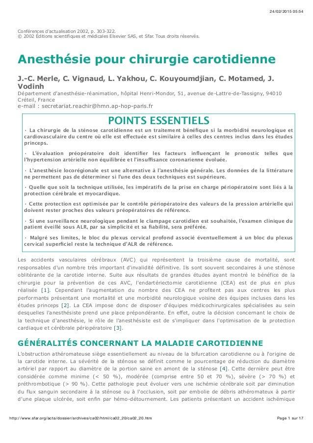 24/02/2015 05:54 Page 1 sur 17http://www.sfar.org/acta/dossier/archives/ca02/html/ca02_20/ca02_20.htm Conférences d'actual...