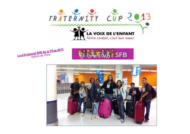 up 2013 de la FC SFB journal e Paris Le p'tit Edition d