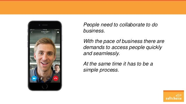 People need to collaborate to do business. With the pace of business there are demands to access people quickly and seamle...