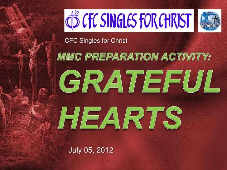 CFC Singles for Christ July 05, 2012