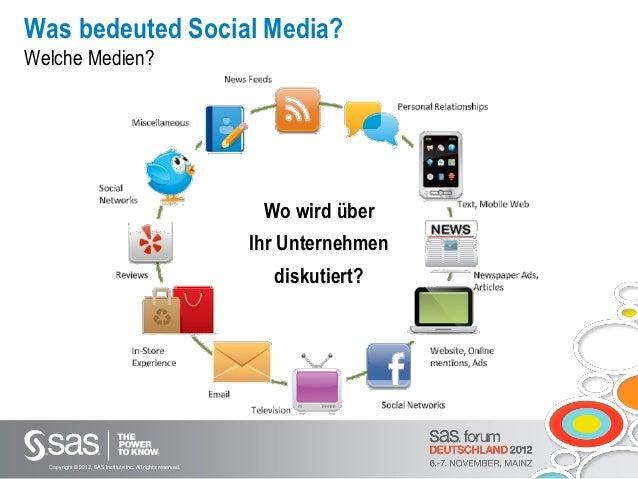 SAS Forum Deutschland 2012 -  Von Social Media zu CRM Slide 3