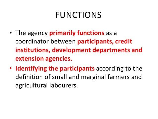 Small Farmers Development Agency& MFAL