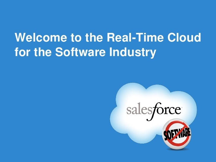 Welcome to the Real-Time Cloud for the Software Industry