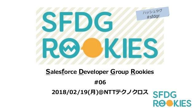 Salesforce Developer Group Rookies #06 2018/02/19(月)@NTTテクノクロス