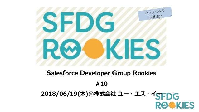 Salesforce Developer Group Rookies #10 2018/06/19(木)@株式会社 ユー・エス・イー