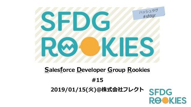Salesforce Developer Group Rookies #15 2019/01/15(火)@株式会社フレクト