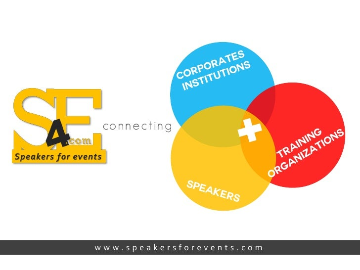co nn e c t in gwww.speakersforevents.com