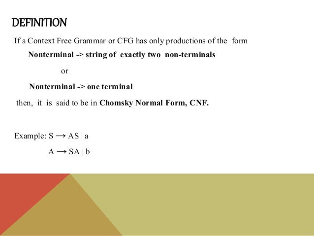 CNF & Leftmost Derivation - Theory of Computation Slide 2