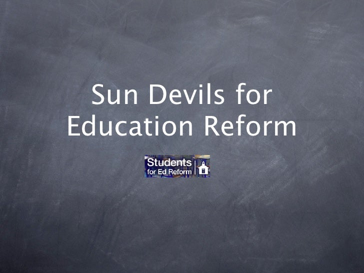 Sun Devils forEducation Reform