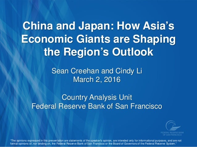 China and Japan: How Asia's Economic Giants are Shaping the Region's Outlook Sean Creehan and Cindy Li March 2, 2016 Count...