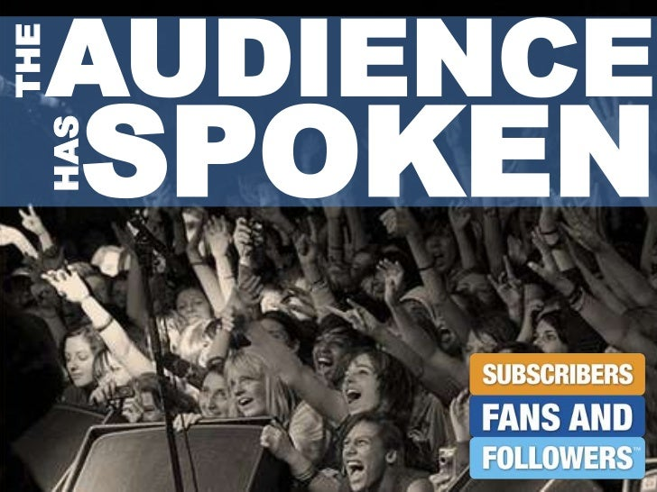 AUDIENCE<br />SPOKEN<br />THE<br />HAS<br />