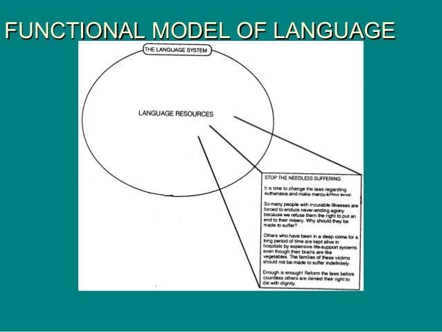 FUNCTIONAL MODEL OF LANGUAGEFUNCTIONAL MODEL OF LANGUAGE