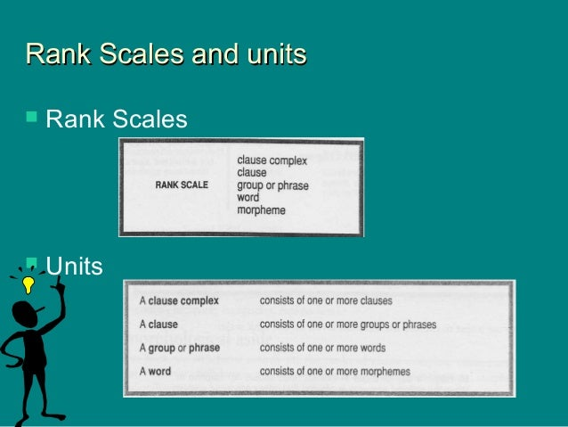 Rank Scales and unitsRank Scales and units  Rank Scales  Units