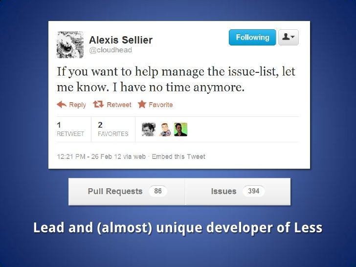Lead and (almost) unique developer of Less