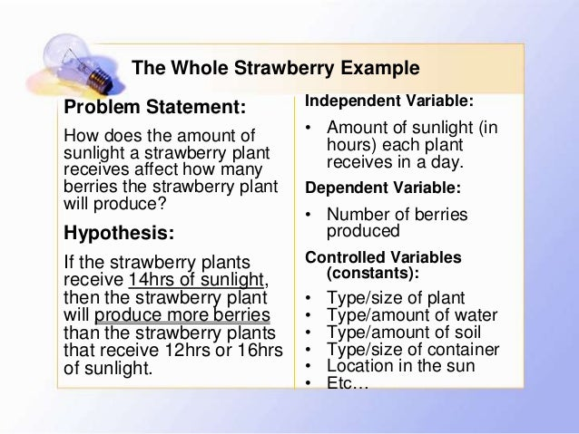 Problem statement and hypothesis