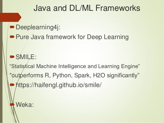 Java and Deep Learning