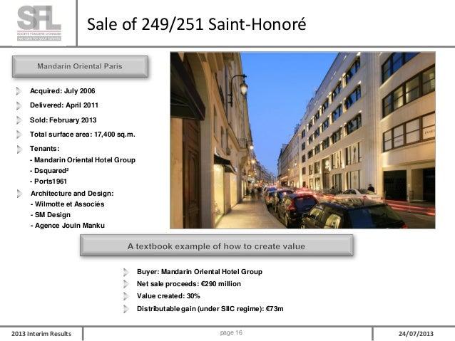 SFL 2013 Interim Results