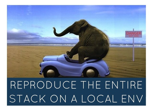 REPRODUCE THE ENTIREREPRODUCE THE ENTIRE STACK ON A LOCAL ENVSTACK ON A LOCAL ENV