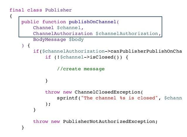 namespace MessageContextDomainServiceGateway; interface ChannelGatewayInterface { /** * @param ChannelId $channelId * * @r...
