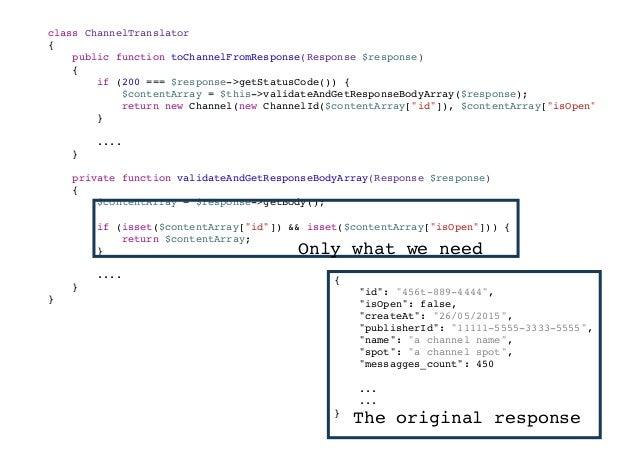 <?php interface ServiceIntegrationInterface { /** * @param $message * * @throws ServiceNotAvailableException */ public fun...