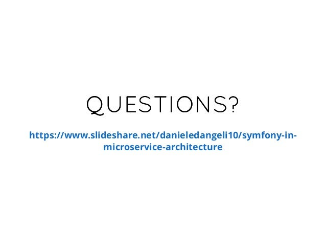 Symfony in microservice architecture