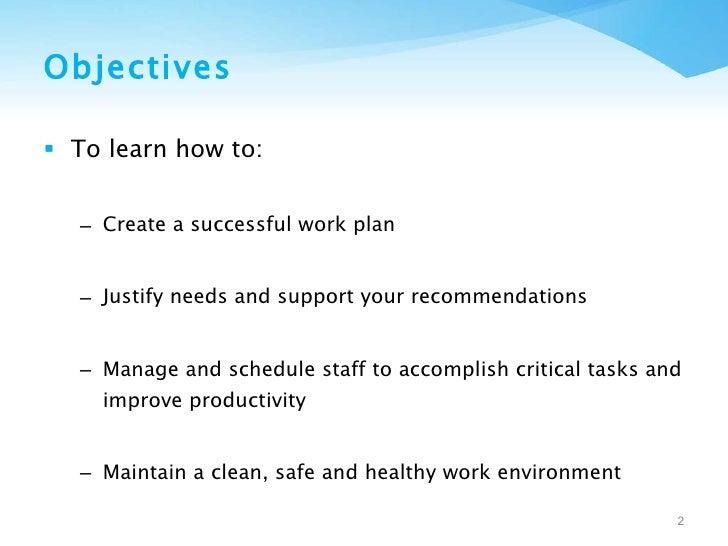 Managing Change: Creating a Successful Work Plan Slide 2
