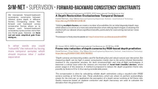 SfM-NeT • Supervision • Forward-backward consistency constraints We incorporate forward-backward consistency constraints b...