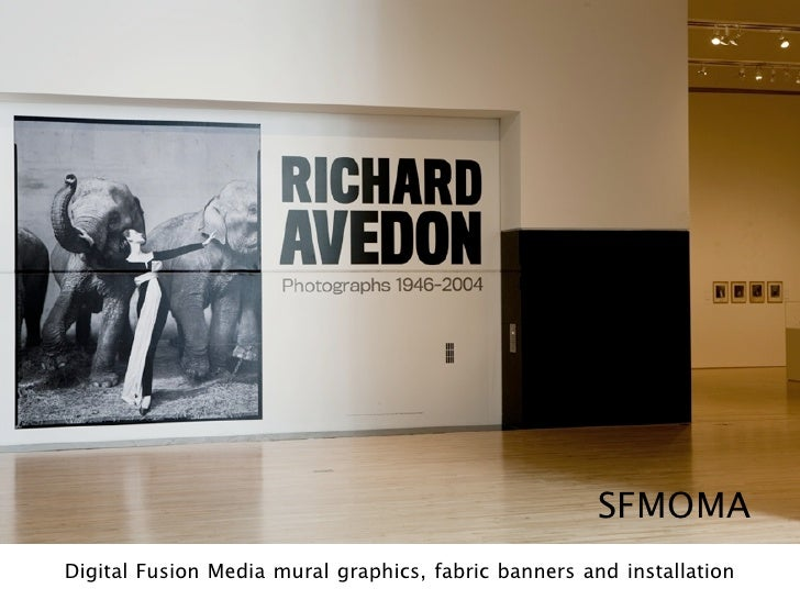 SFMOMA Digital Fusion Media mural graphics, fabric banners and installation