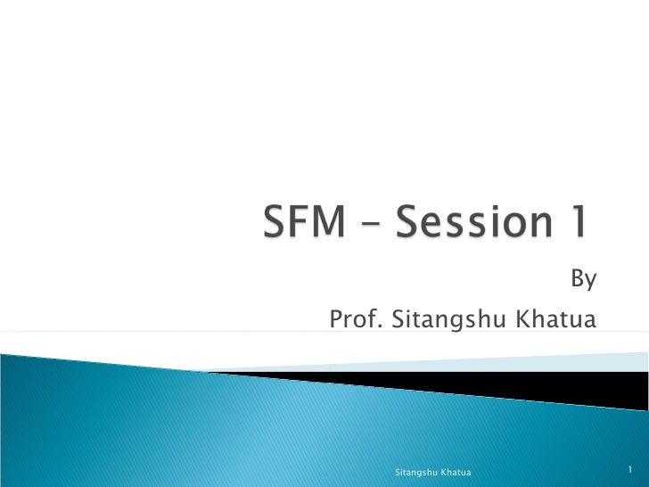 By Prof. Sitangshu Khatua Sitangshu Khatua