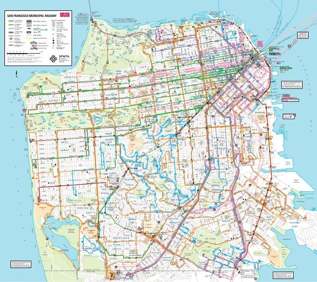 San Francisco Muni Metro Map.Sfo Muni Map