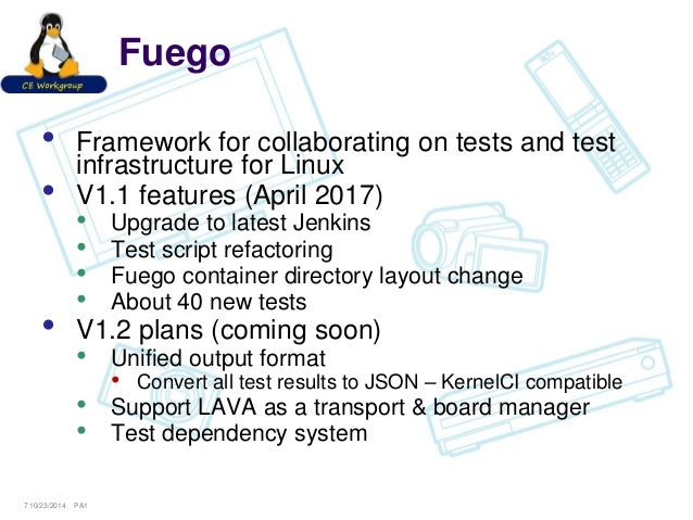 Test standards - can Fuego, Lava and others agree? - SFO17-116