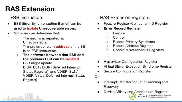 Reliability, Availability, and Serviceability (RAS) on ARM64 status -…