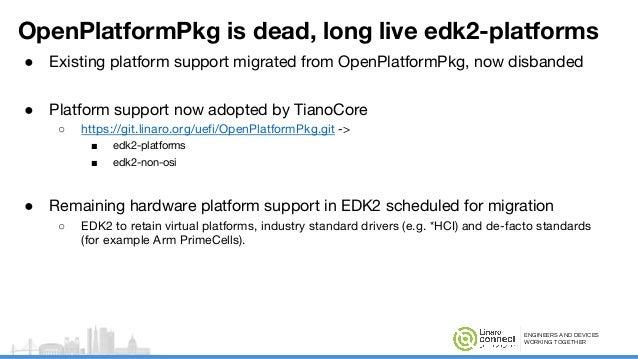 EDK2 Platform Support - SFO17-211