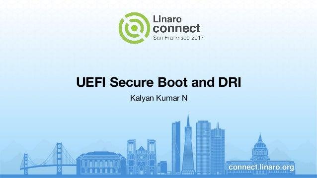 UEFI Secure Boot and DRI Kalyan Kumar N
