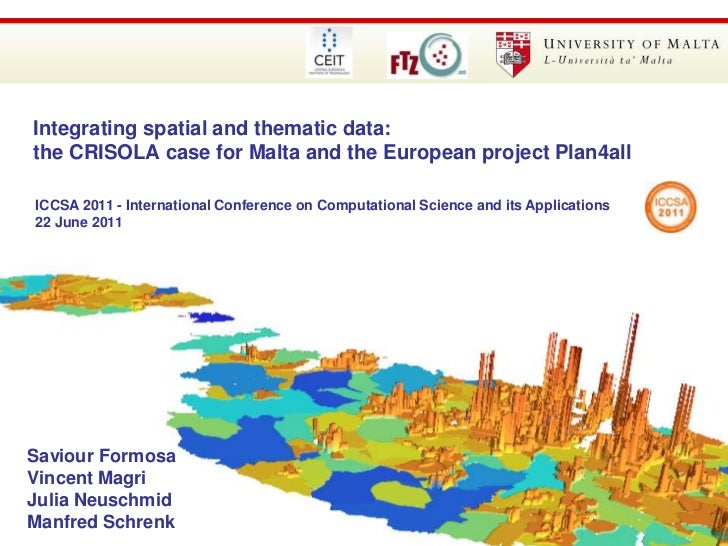 85th Annual WAD Conference 2010 – 24th September 2010<br />Integrating spatial and thematic data: the CRISOLA case for Mal...