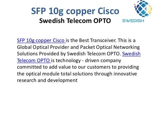 SFP 10g copper Cisco a Multi source agreement