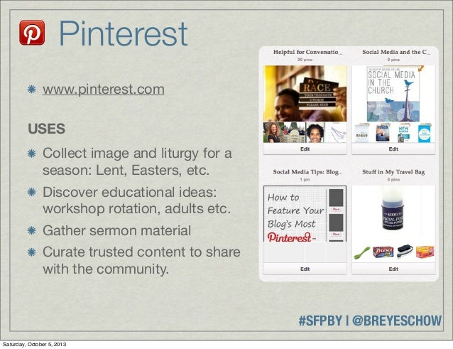 #SFPBY   @BREYESCHOW www.pinterest.com USES Collect image and liturgy for a season: Lent, Easters, etc. Discover education...