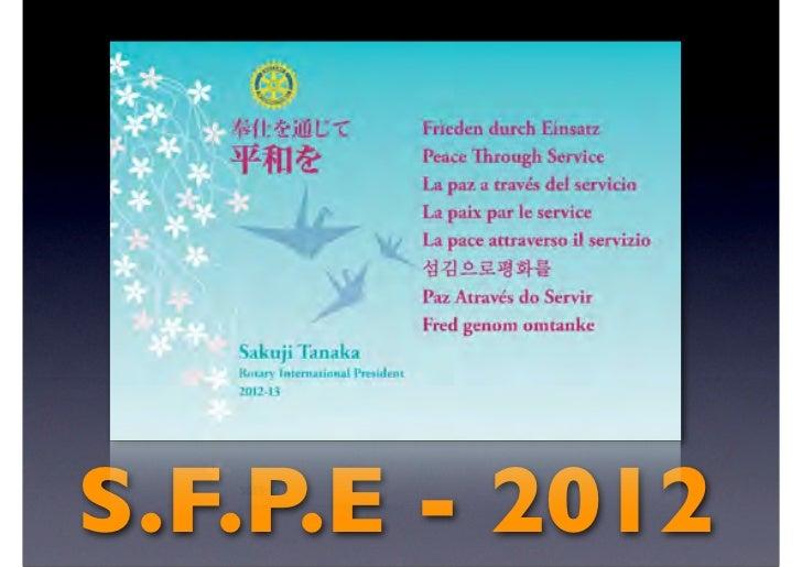 S.F.P.E - 2012
