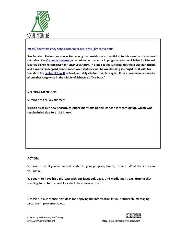 Sf performances listening report may 21 Slide 2
