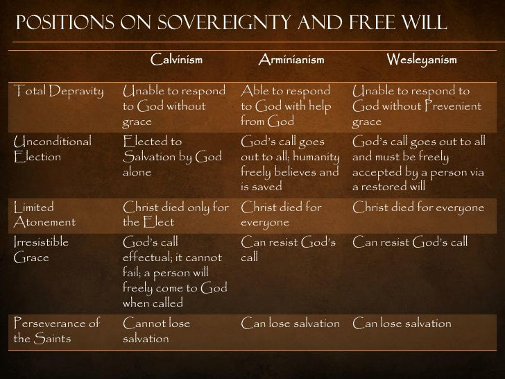 an introduction to the comparison of calvinism and arminianism A comparison of wesley arminianism and calvinism for later save related info  introduction to the course on biblical literature  a block comparison of .