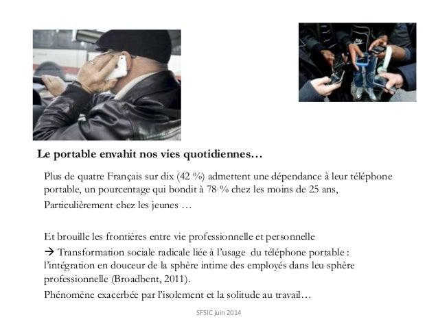 Le portable envahit nos vies quotidiennes… Plus de quatre Français sur dix (42 %) admettent une dépendance à leur téléphon...
