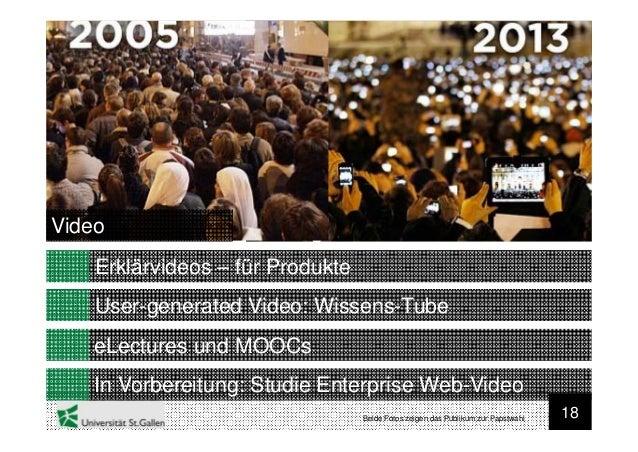 18User-generated Video: Wissens-TubeVideoeLectures und MOOCsIn Vorbereitung: Studie Enterprise Web-VideoErklärvideos – für...