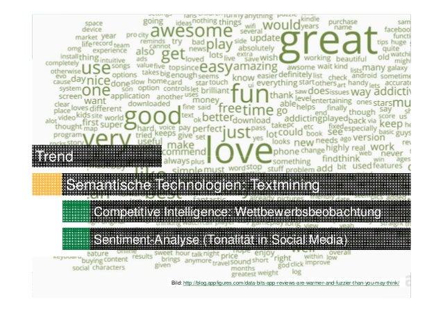 24Competitive Intelligence: WettbewerbsbeobachtungTrendSentiment-Analyse (Tonalität in Social Media)Semantische Technologi...