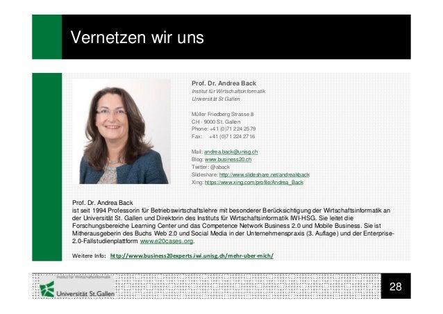 28Vernetzen wir unsProf. Dr. Andrea Backist seit 1994 Professorin für Betriebswirtschaftslehre mit besonderer Berücksichti...