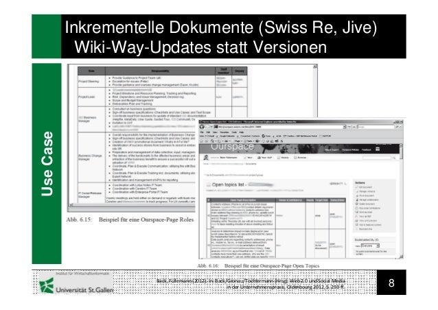 8Back, Füllemann (2012). In: Back/Gronau/Tochtermann (Hrsg): Web 2.0 und Social Mediain der Unternehmenspraxis, Oldenbourg...