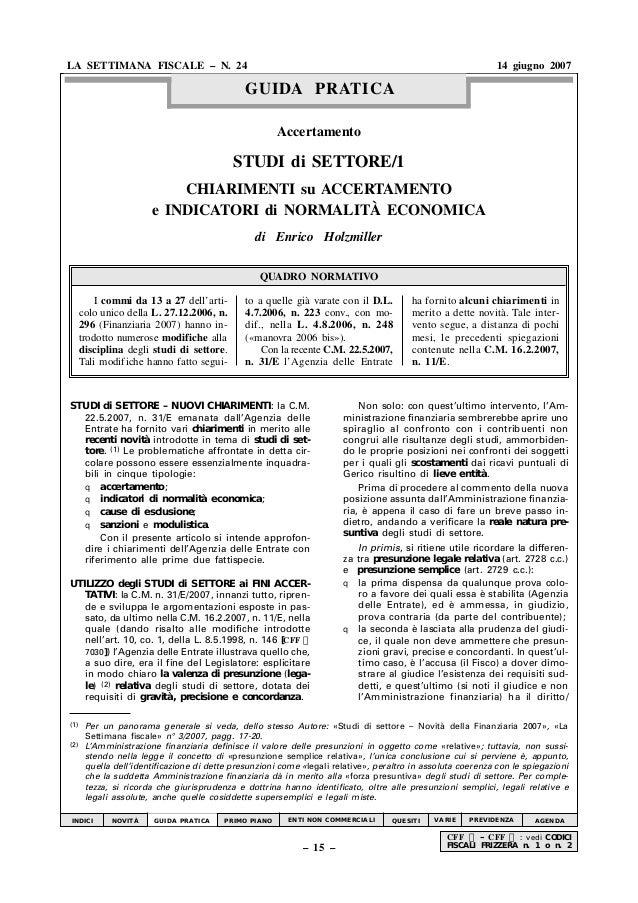GUIDA PRATICA LA SETTIMANA FISCALE – N. 24 14 giugno 2007 – 15 – CFF – – CFF — : vedi CODICI FISCALI FRIZZERA n. 1 o n. 2 ...